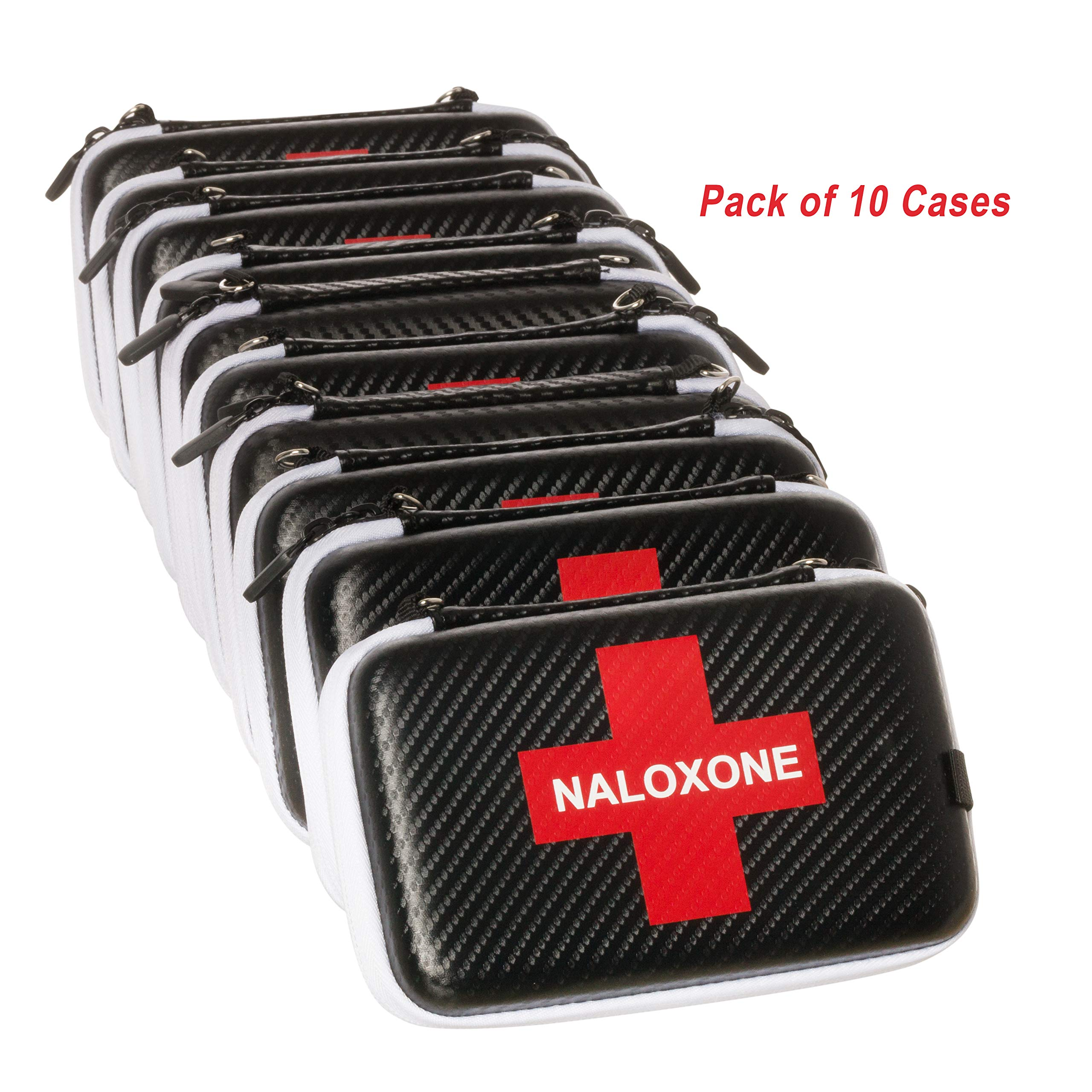 Naloxone Case for Opioid Overdose and Narcan Kits (Cases only) (7'' x 4.5'' x 2'') - 10 Pack