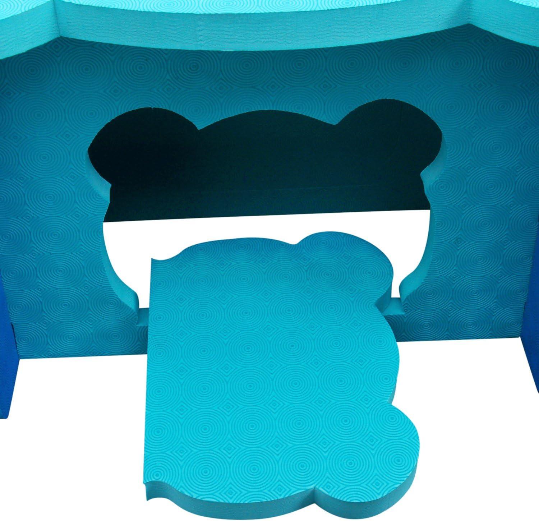 meiqicool Juego de Mesa y Silla de Puzzle de EVA para ni/ños con dise/ño de Animales nuevos Azul ZY17QSL