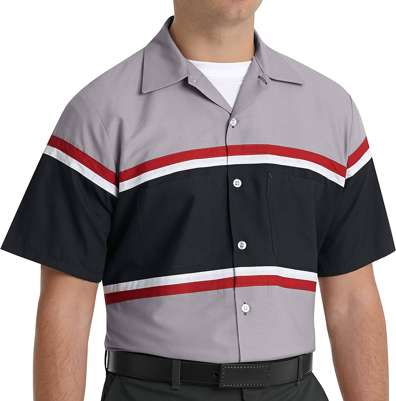 Red Kap Men's Performance Tech Vertical Button Hole Shirt