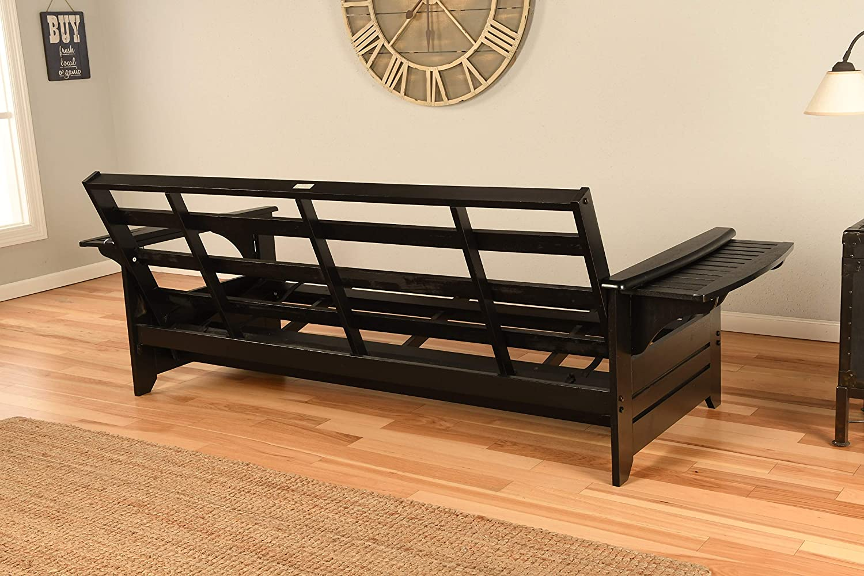 Kodiak Furniture KF Phoenix Full Size Futon in Black Finish Peters Cabin