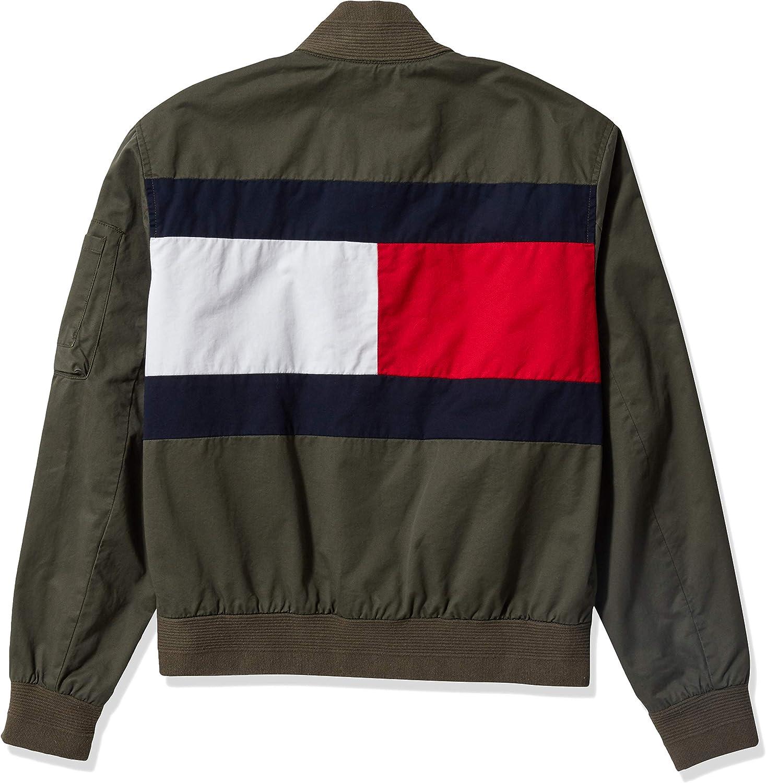 Tommy Hilfiger Womens Flag Bomber Jacket