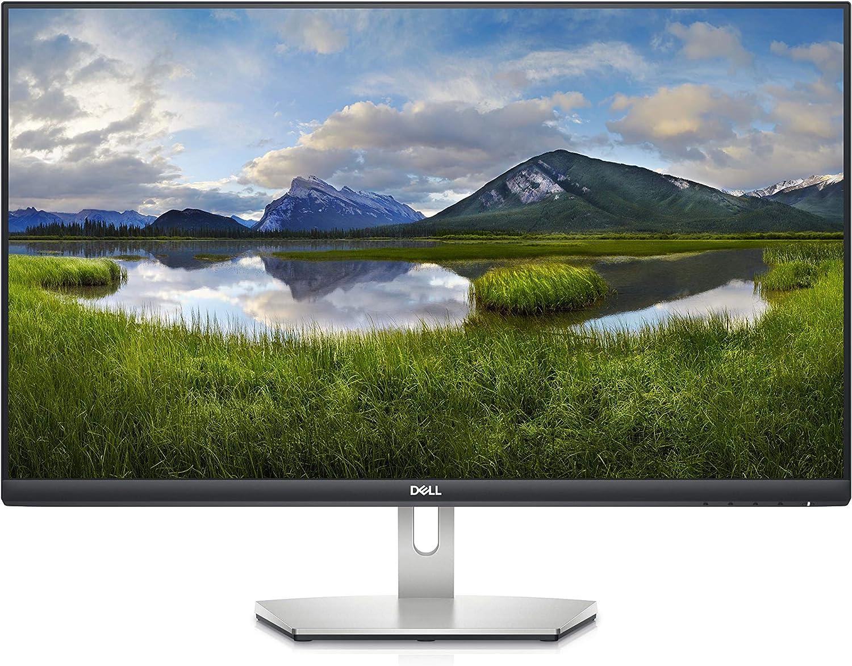 Dell S2721D 27 Inch 1440p QHD, IPS Ultra-Thin Bezel Monitor, AMD FreeSync, HDMI, DisplayPort, Built in Speakers, VESA Certified, Silver