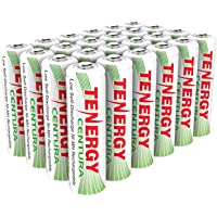 Tenergy Centura AA NiMH Rechargeable Battery, 2000mAh Low Self Discharge Batteries, Pre-Charged AA Batteries, 24 Pack