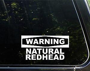 Diamond Graphics Warning Natural Redhead (7-1/2 X 3-3/4) Die Cut Decal Bumper Sticker For Windows, Cars, Trucks, Laptops