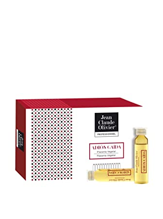 Jean Claude Olivier | Ampollas Anticaida con Placenta Vegetal - 12 Ampollas x 9 Ml: Amazon.es: Belleza