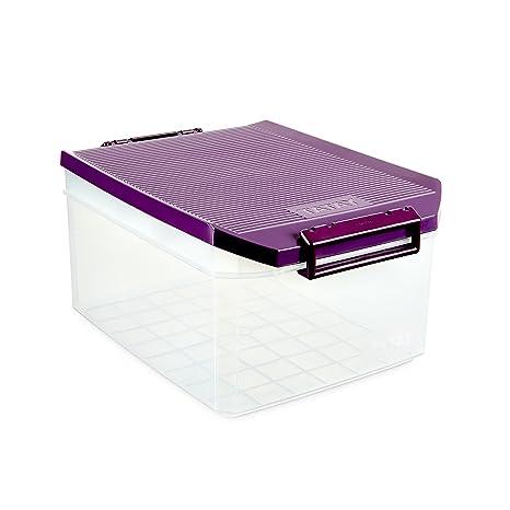 Tatay 1150120 Caja de Almacenamiento Multiusos con Tapa, 14 l de Capacidad, Plástico Polipropileno