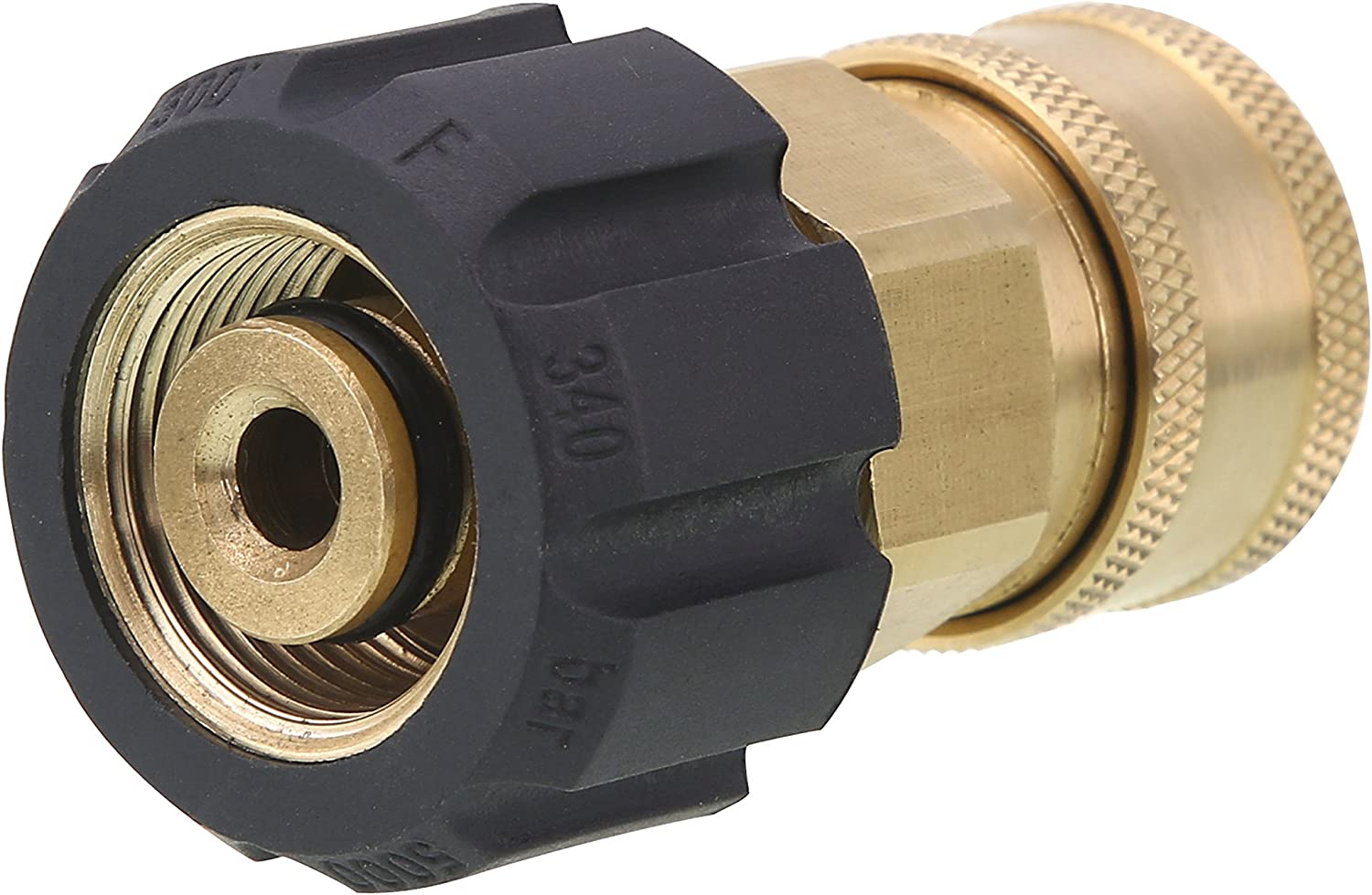 Tool Daily Quick Connect Socket for Pressure Washer Gun and Hose, 3/8 Inch Socket to M22 14mm Metric Swivel, 5000 PSI