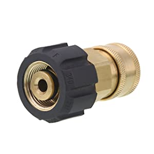 Tool Daily Quick Connect Socket for Pressure Washer Gun and Hose, 3/8 Socket to M22 14mm Metric Swivel, 5000 PSI