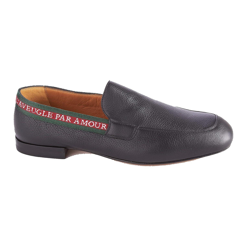 a4e8f5d28a97a Amazon.com  Gucci Men s Leather L Aveugle Par Amour Loafers Black Shoes   Shoes