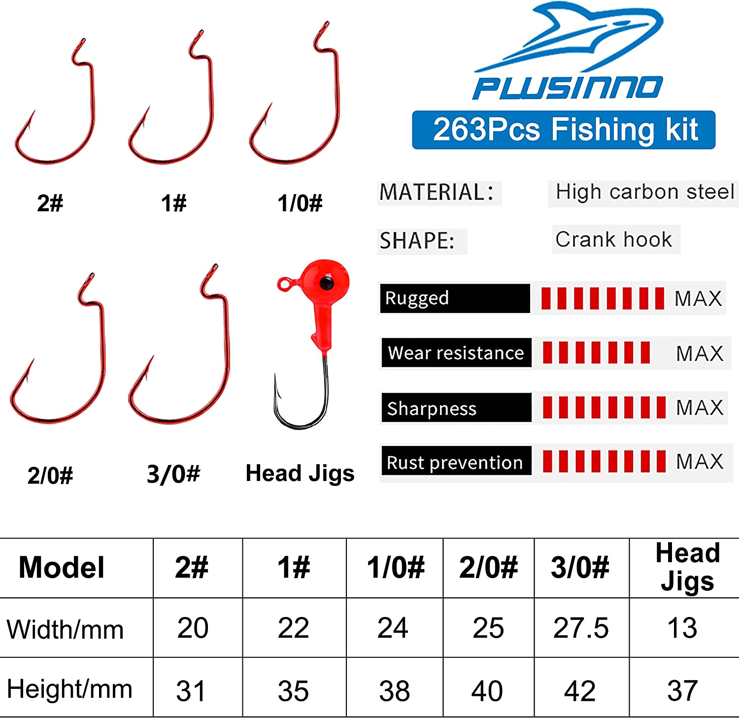 PLUSINNO Fishing Accessories Kit, 263pcs Fishing Tackle Kit with Tackle Box Including Fishing Weights Sinkers, Jig Hooks, Beads, Swivel Snap, Bobbers Float, Saltwater Freshwater Fishing Gear : Sports & Outdoors