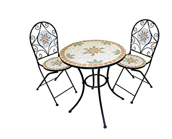 Alpine Mosaic Bistro Set With 2 Chairs
