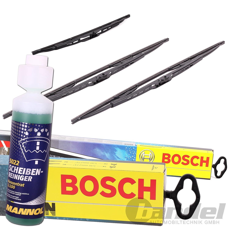 Bosch Twin 553 delantero + trasero Borrador H341 + Limpiador: Amazon ...