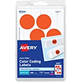 Avery Removable Print Or Write Color Coding Labels For Laser Printers 125 Inches Round