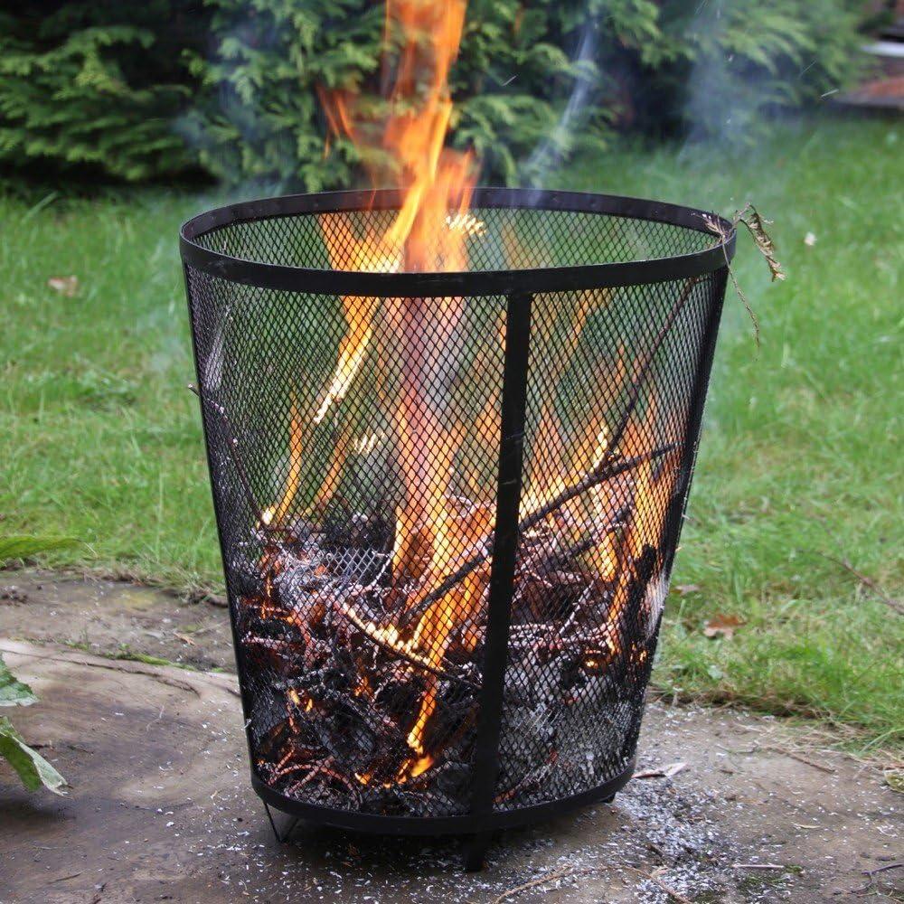 Resistente de acero Garden incinerador o cesto para hoguera/Pit - garantiza rápido quema de basura para cualquier jardín.: Amazon.es: Jardín