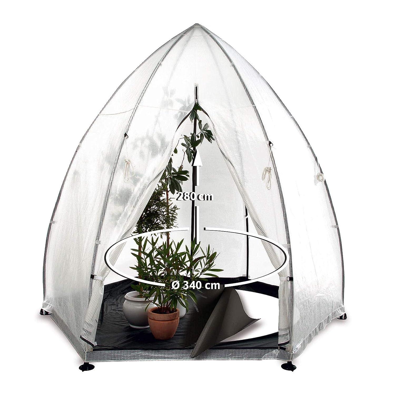 Bio Green Winterschutz für Kübelpflanzen - Bio Green Überwinterungszelt Pflanzen - Bio Green Winterschutz Tropical Island Zelt