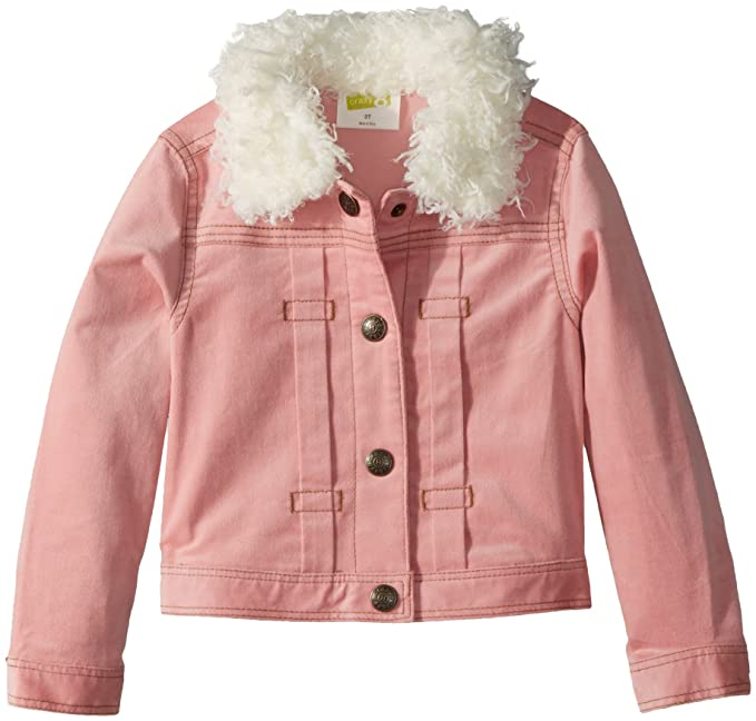 6d55b0ad68eb Amazon.com  Crazy 8 Girls  Toddler Sherpa Lined Cordorouy Jacket ...