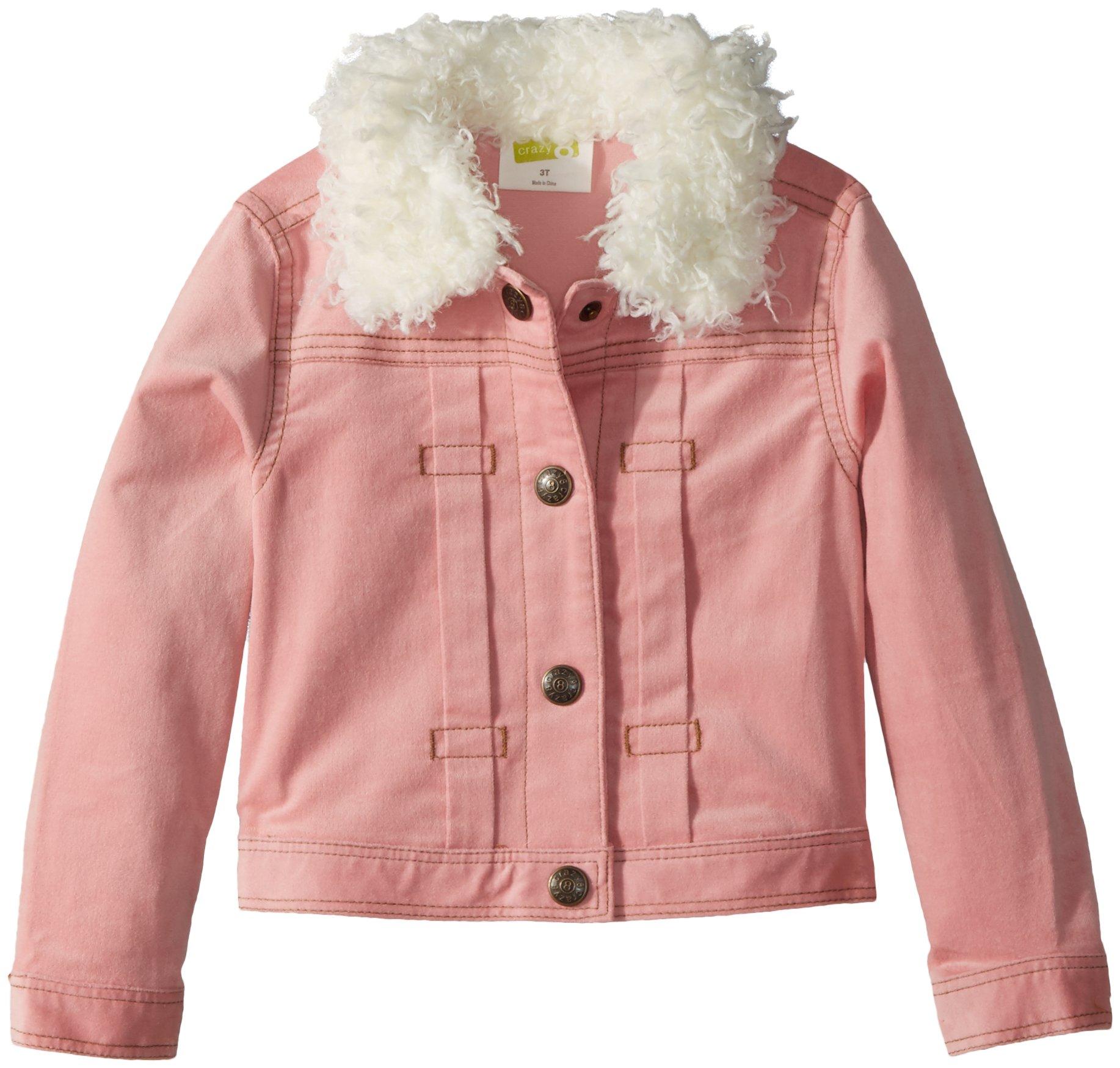 Crazy 8 Toddler Girls' Sherpa Lined Cordorouy Jacket, Blush, 12-18 Mo