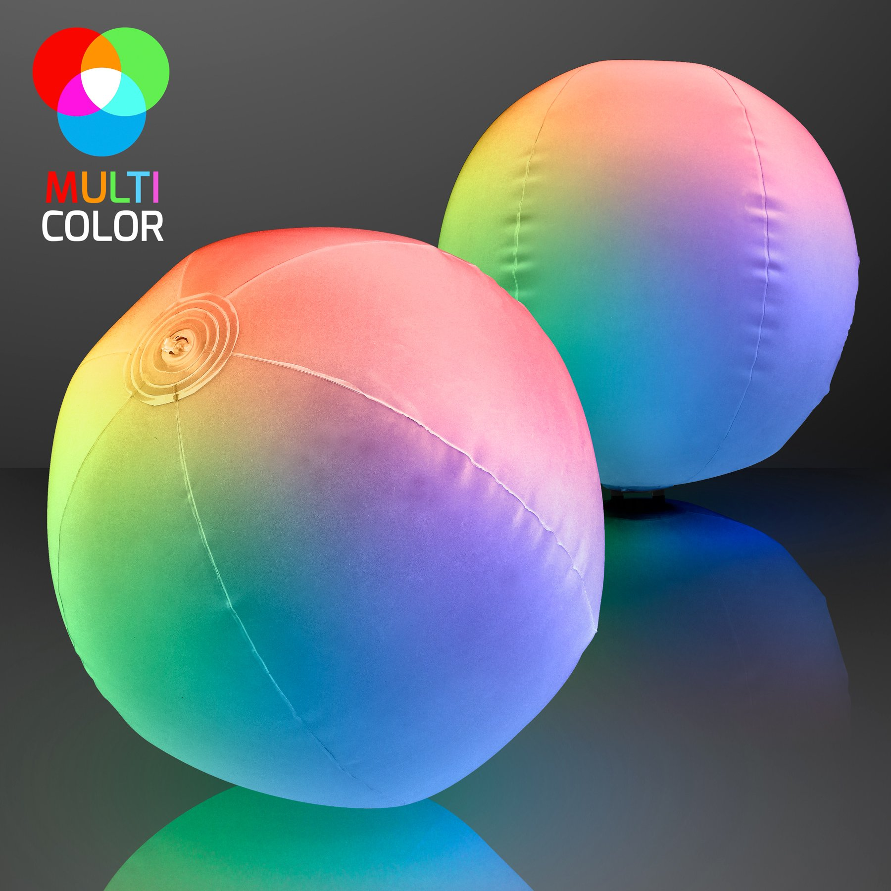Light Up Beach Ball with Color Changing LED Lights (Set of 12) by FlashingBlinkyLights (Image #3)