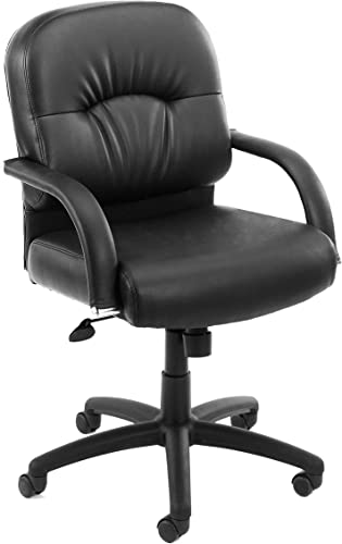 Boss Office Products Mid Back Caressoft Chair