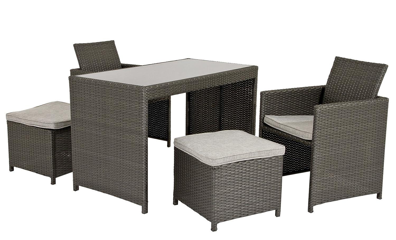 edle Rattan Lounge Sitzgruppe DORA für Balkon Terasse klein ...
