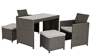 Rattan balkon  Amazon.de: Haberkorn-Garten edle Rattan Lounge Sitzgruppe DORA für ...