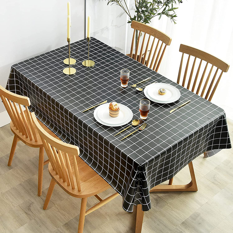 LIUJIU Mantel rectangular impermeable de PVC, mesa de comedor, fiesta de autoservicio y campamento, 70 x 150 cm