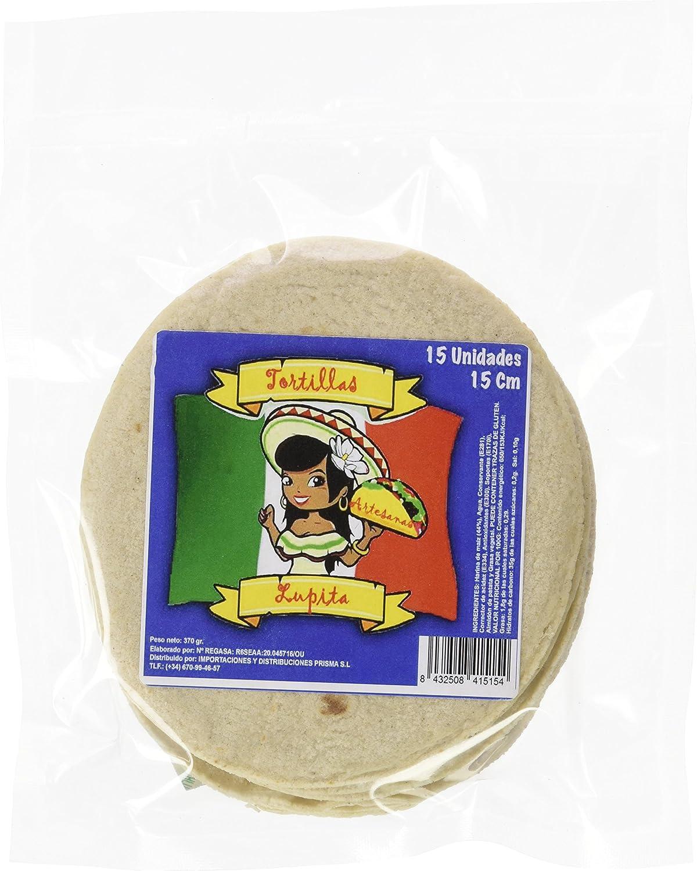 Lupita Tortilla Artesana de Maíz Blanco, 15 CM, 15 UDS - Caja de 12 packs: Amazon.es: Alimentación y bebidas