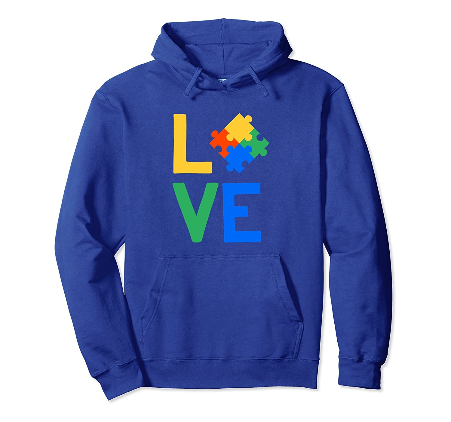 Autism Awareness Hoodie Men Women Kids Support Love Heart-TH