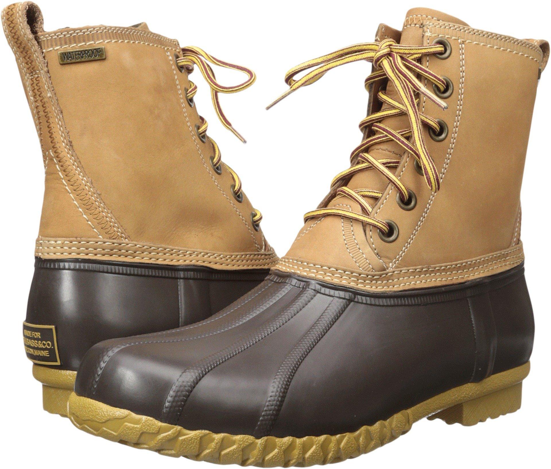 G.H. Bass & Co. Men's Dixon Rain Boot, Dark Tan/Brown, 7 M US