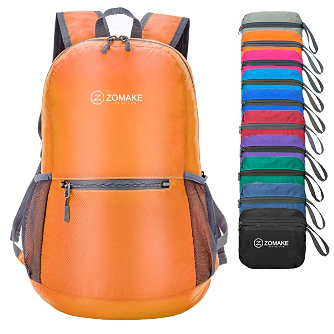 Small ZOMAKE Ultra Lightweight Foldable Backpack Water Resistant Hiking Daypack