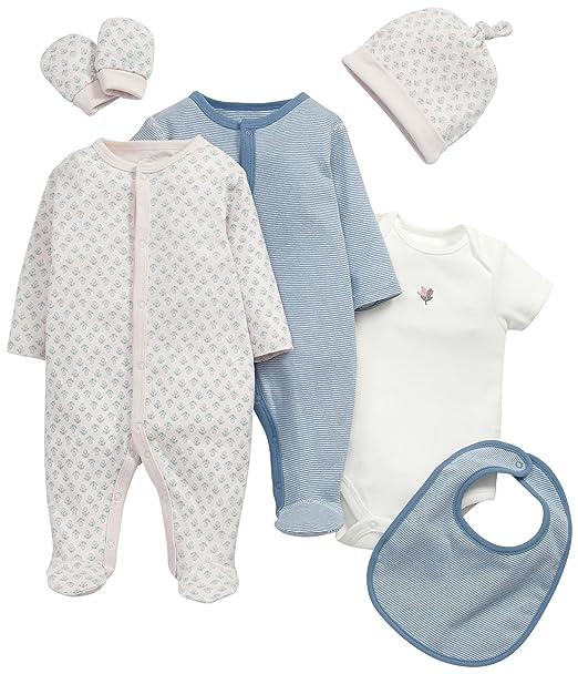 Mamas & Papas 6 Piece Layette Set, Conjunto de Ropa para Bebés, Rosa (