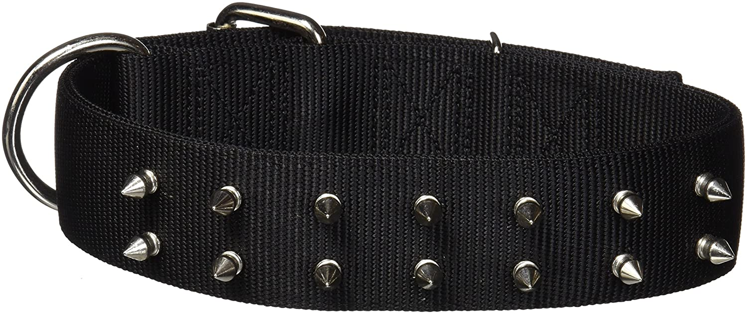 Macho Dog® Double-Ply Nylon Spiked Collar with Roller Buckle