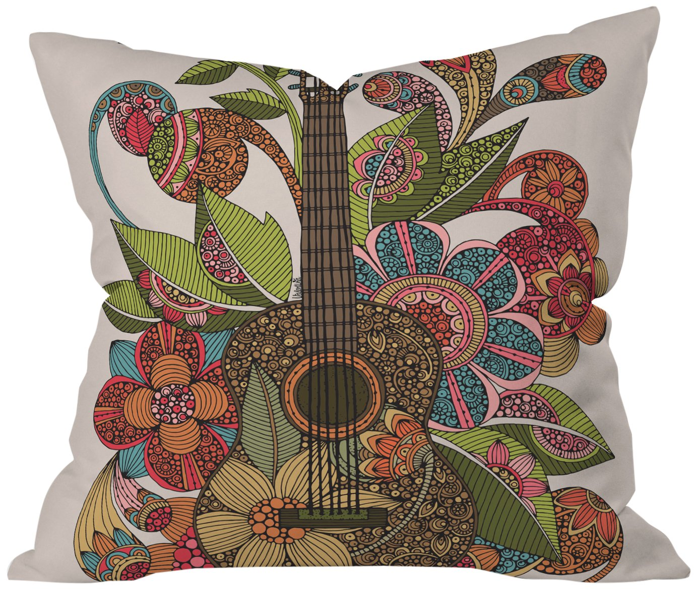 Deny Designs Valentina Ramos Ever Guitar Throw Pillow, 16 x 16