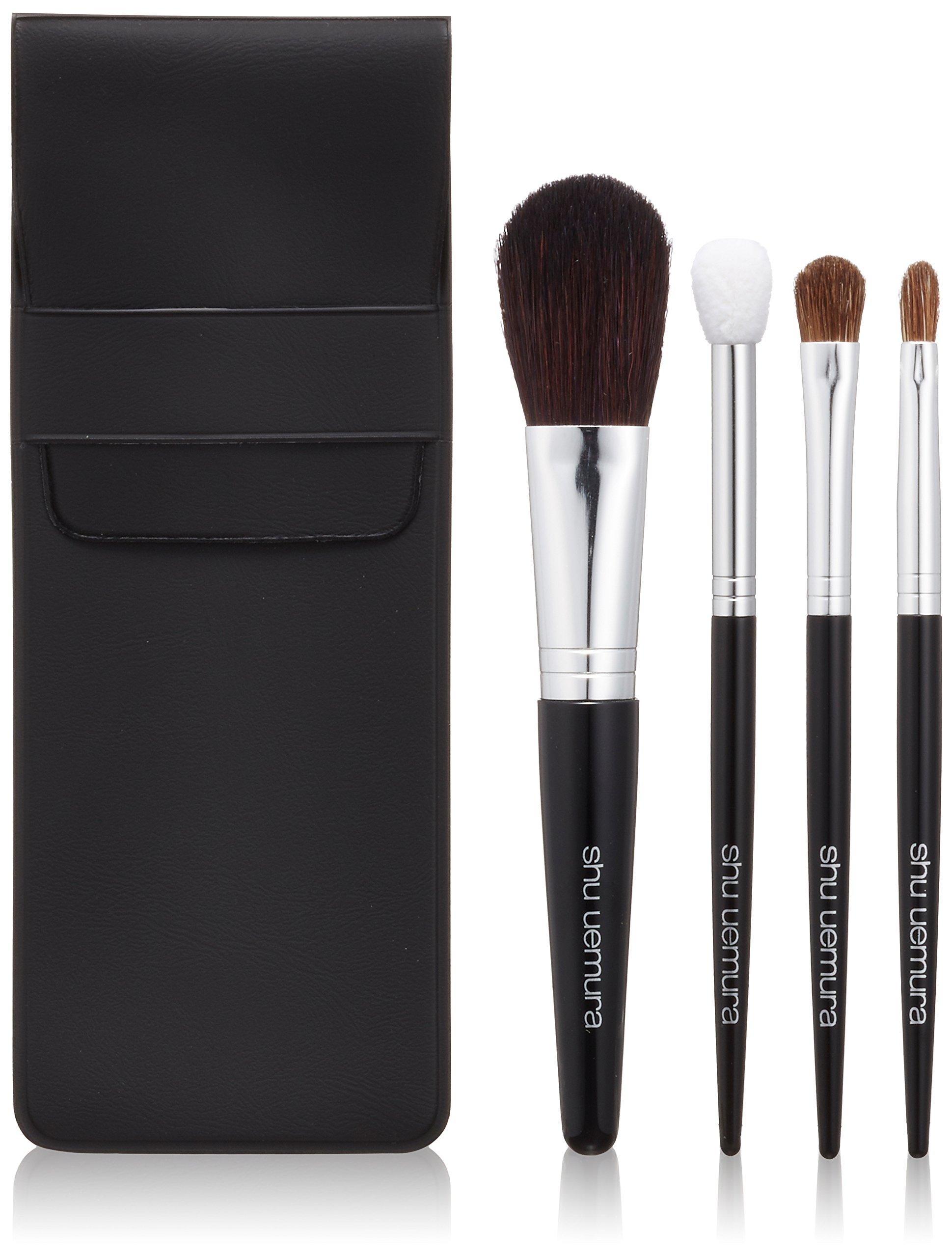 Shu Uemura - Natural Portable Brush Set (For Cheeks, Eye Shadow, Lips) - -