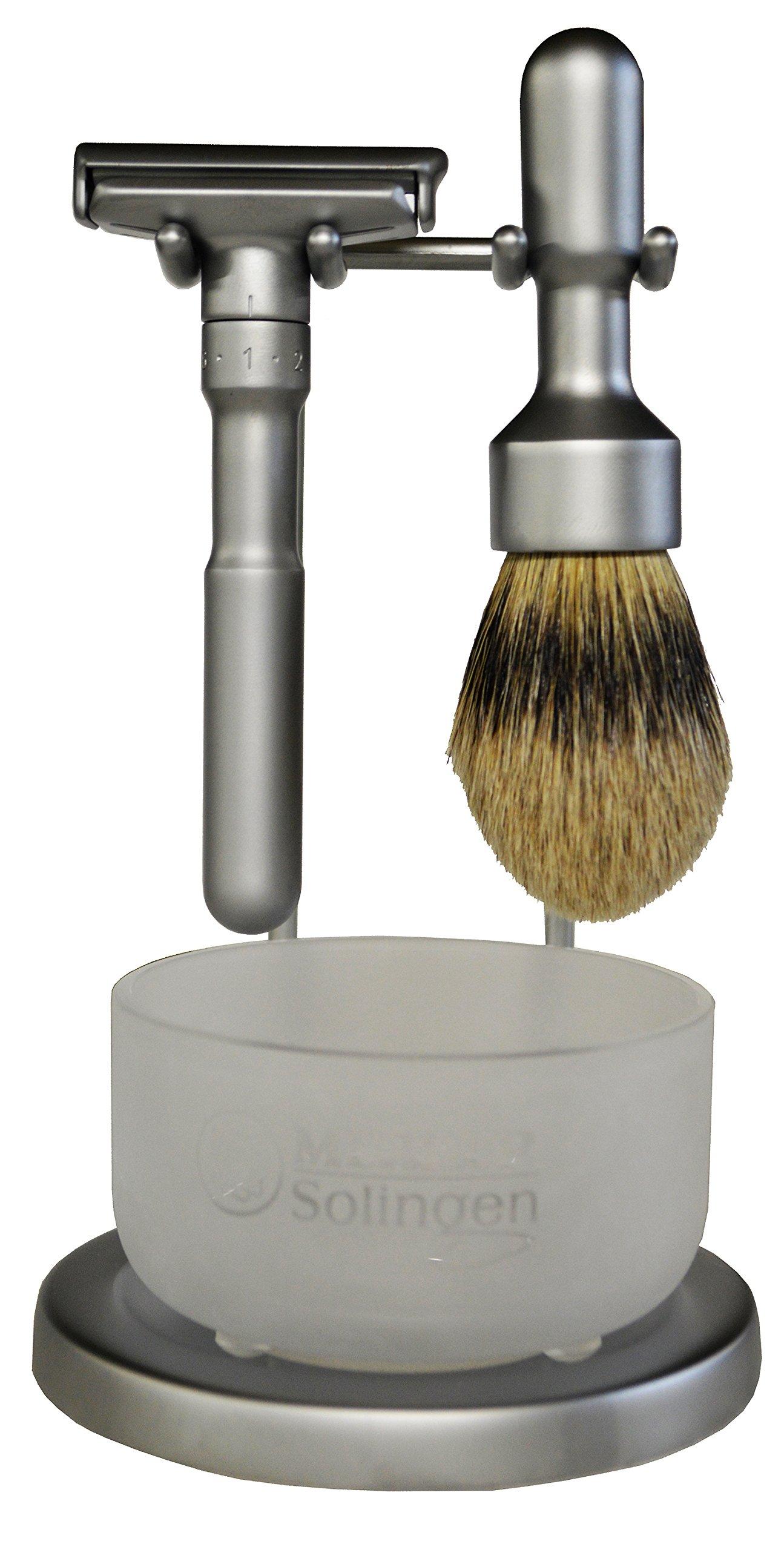 Merkur Futur 4 Piece Shaving Set- Satin Finish-#750- Made in Germany