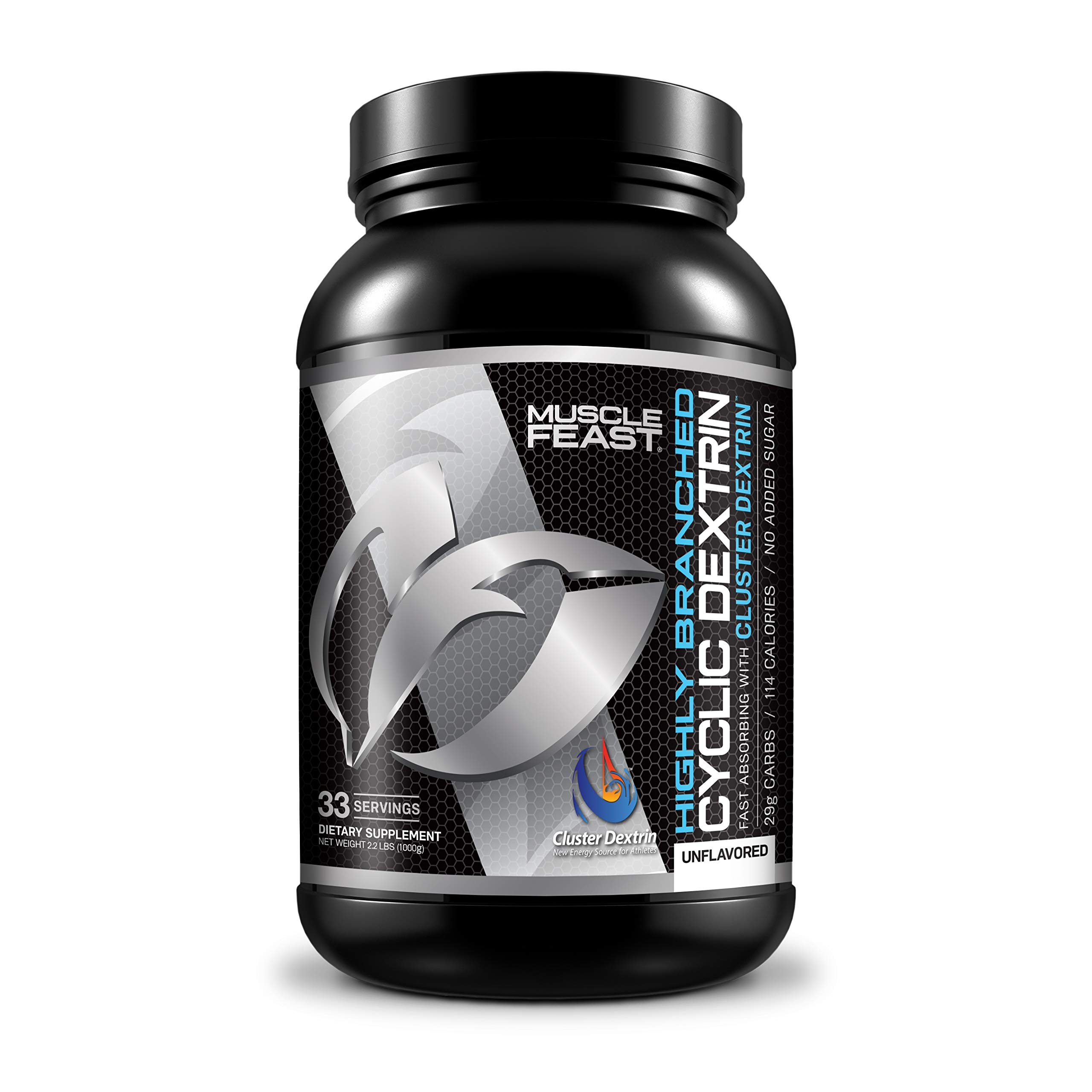 Highly Branched Cyclic Dextrin | Muscle Feast | Super Carb (2.2lbs,1000 Grams)