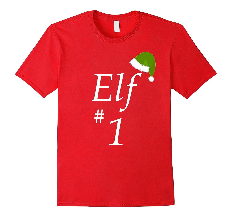 Elf # 1. Family Matching Holiday T-Shirt-Art