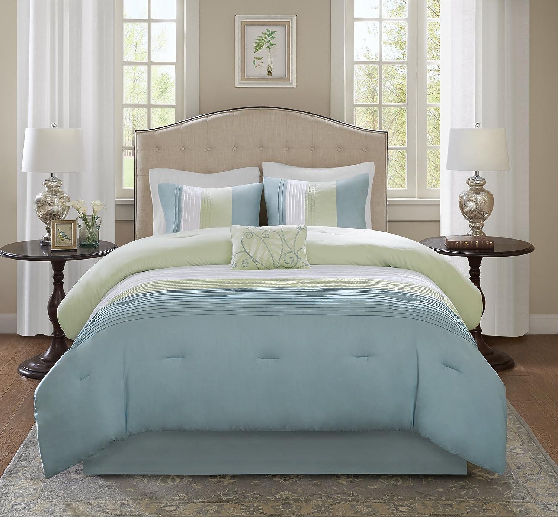 comfort spaces windsor comforter set 5 piece black grey light grey ebay. Black Bedroom Furniture Sets. Home Design Ideas