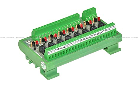 Shavison Relay Module AS535-5V-24V-OM, 8 Channel, Omron G5V Relay, on