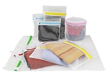 Wäschenetz 9er set waschmaschine und trockner reißverschluss