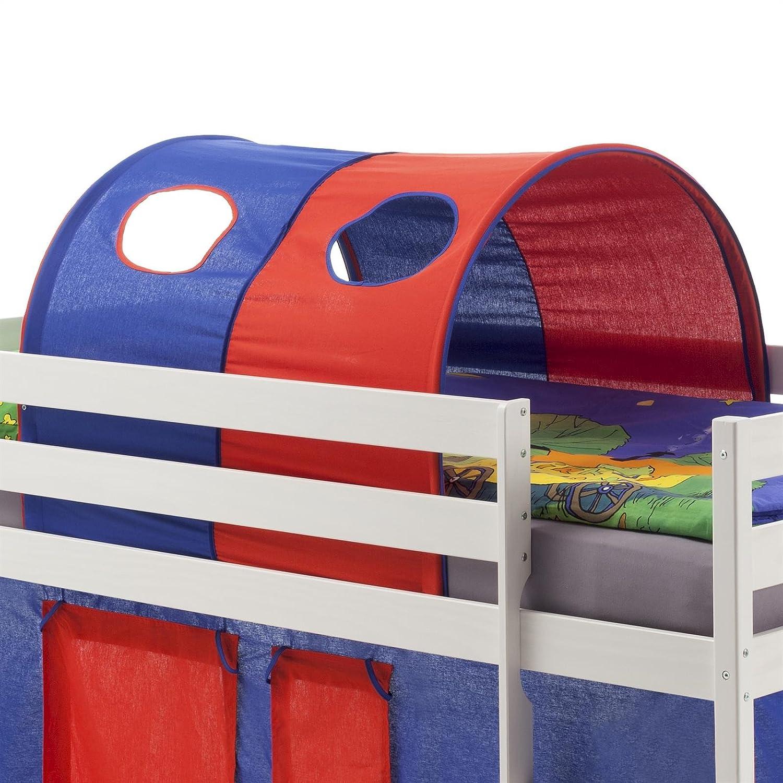 IDIMEX Tunnel MAX für für für Hochbett Rutschbett Spielbett Kinderbett, in blau rot da1f28