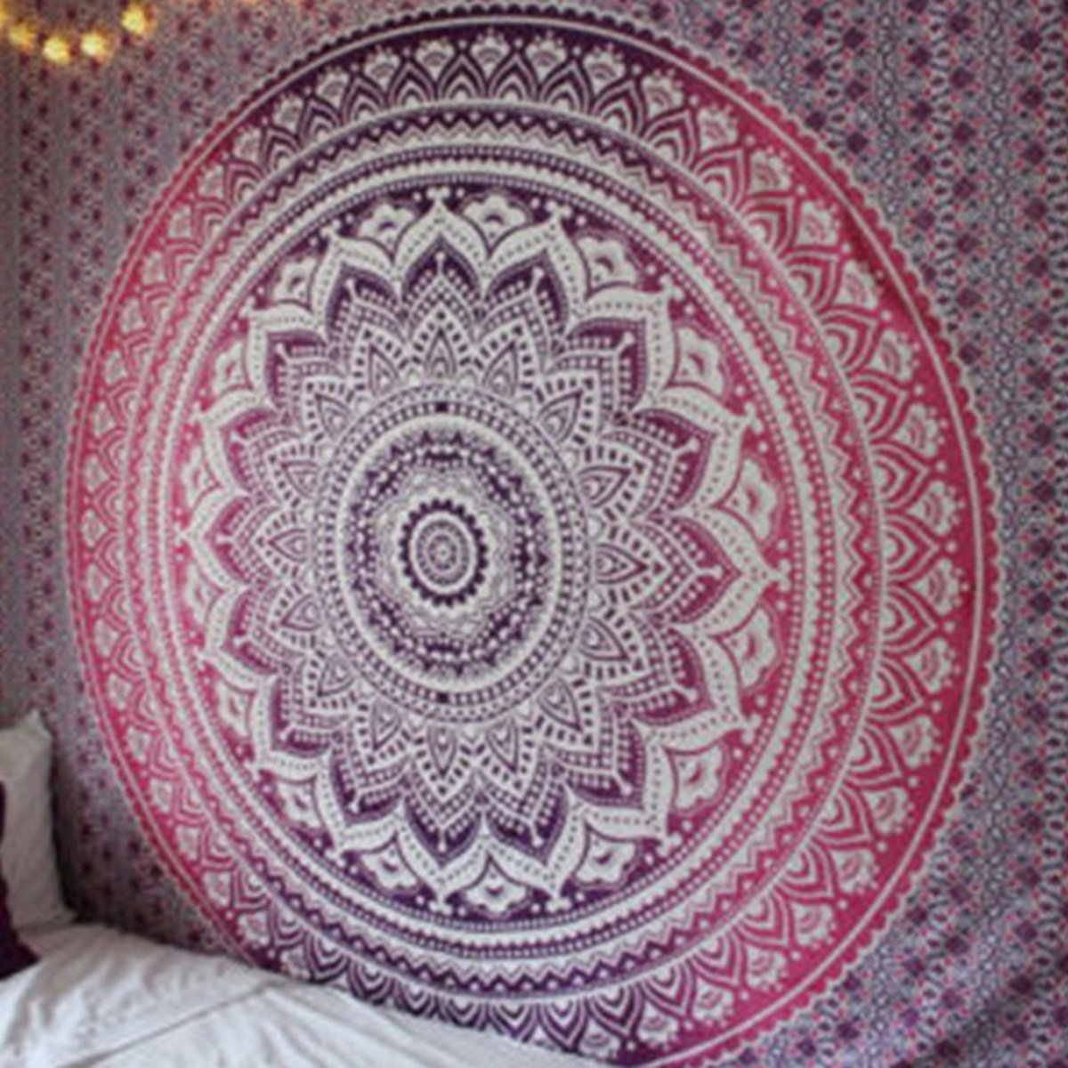 Hoomall Floral Indian Mandala Bohemian Tapestry Wall Hanging Beach Towel Shawl Scarf Screen Ourstory