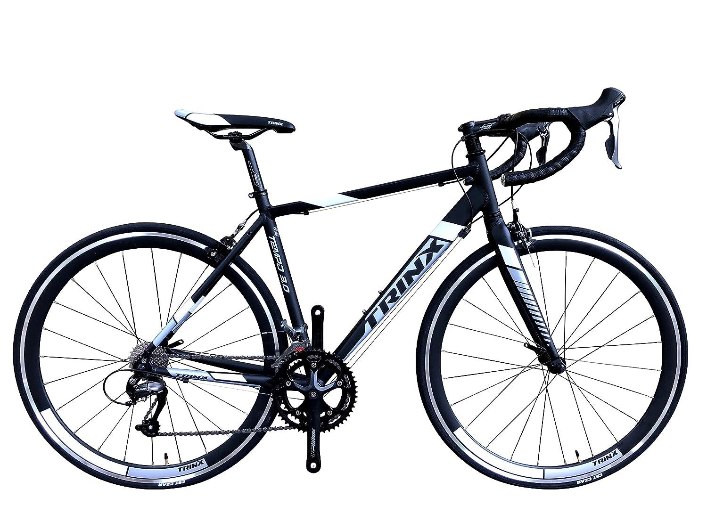 TRINX(トリンクス) 【ロードバイク】デュアルコントロールモデル ShimanoNEWクラリス搭載 Craris シマノ16Speed 軽量 700Cアルミフレーム&アルミフロントフォーク TEMPO3.0 ロードバイクエントリーモデル 3サイズ4カラーバリエーション TEMPO3.0 ブラック/ホワイト 500mm B07FV82RCK