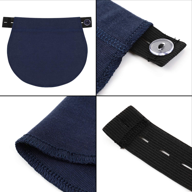 Willbond 6 Paquetes Extensor De Pantalones De Maternidad Extensor De Cintura Ajustable Extensor De Cintura De Embarazo Alargador De Pantalones Elastico Para Mujeres Embarazadas 5 Colores Amazon Es Hogar