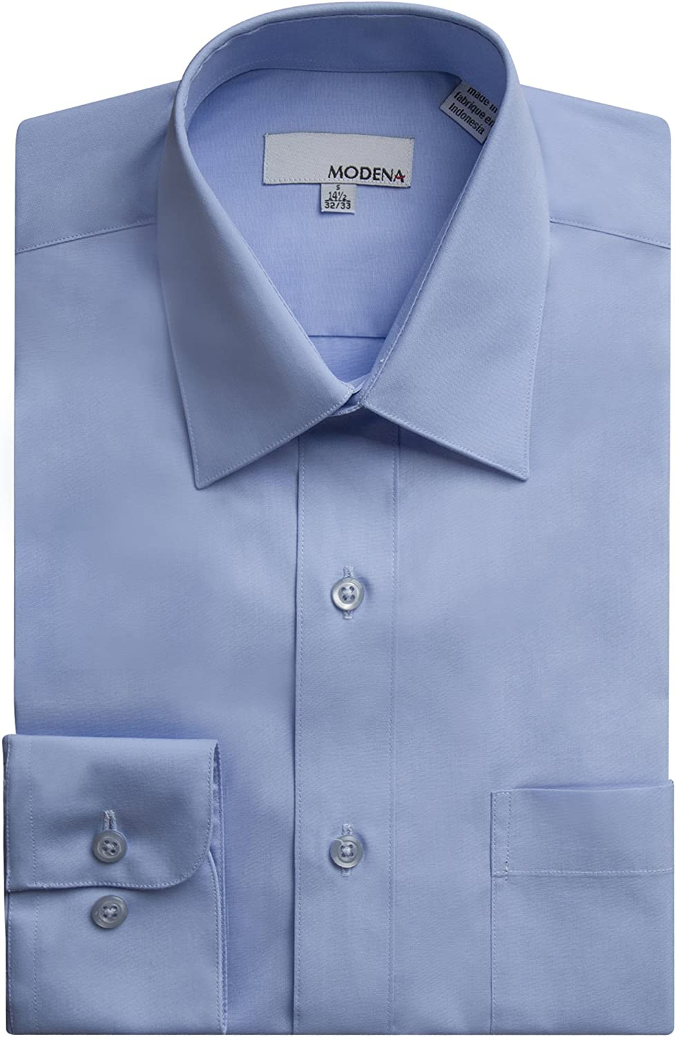 Slim All Sizes Fit Long Sleeve Solid Dress Shirt Colors Modena Men/'s Regular /& Contemporary