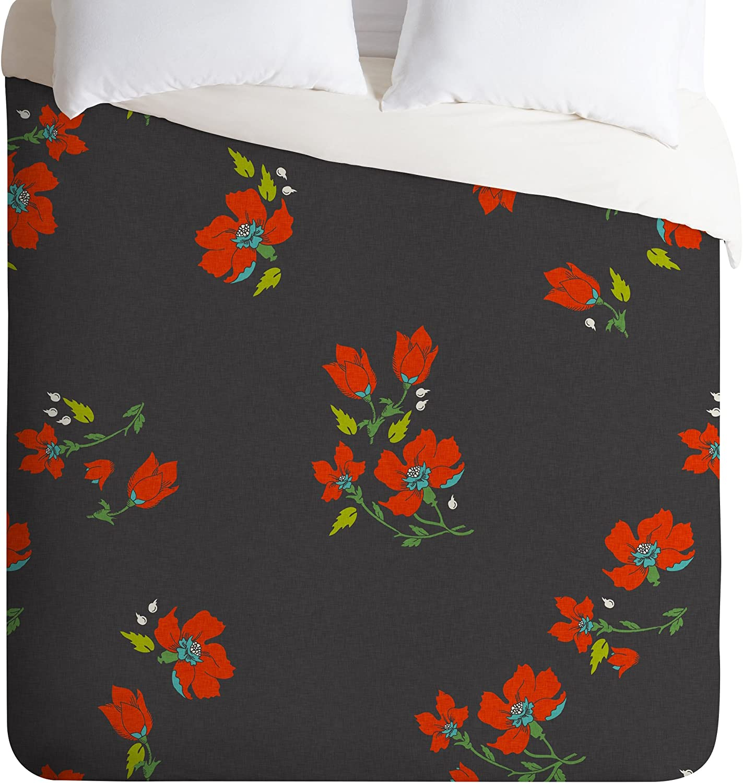 Deny Designs Holli Zollinger Bohemian Farmhouse Floral Duvet Cover Twin//Twin XL