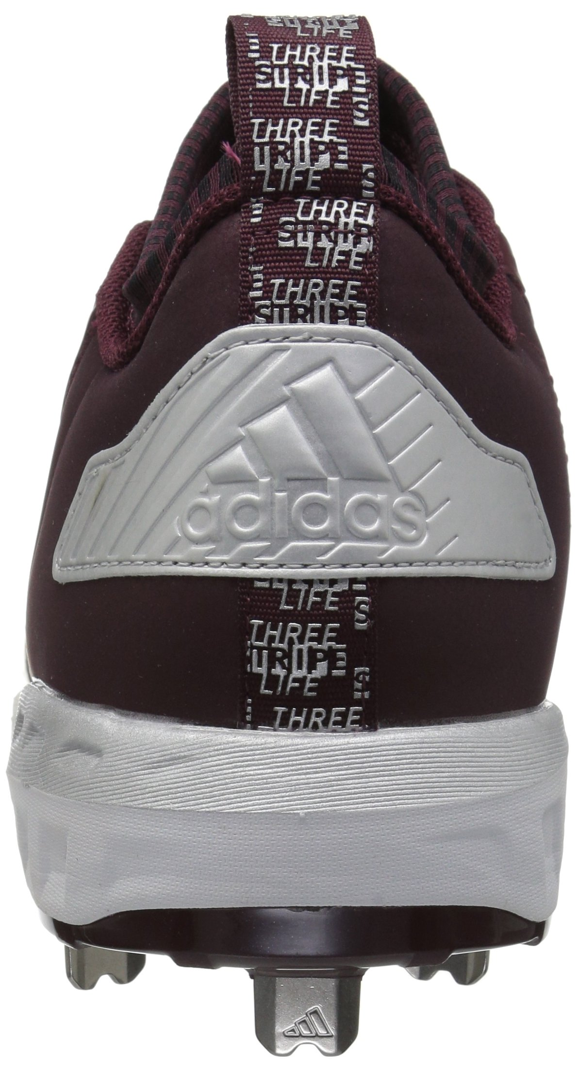 adidas Men's Freak X Carbon Mid Baseball Shoe, Maroon/White/Metallic Silver, 7.5 Medium US by adidas (Image #2)