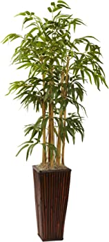 Nearly Natural 4Ft Bamboo With Decorative Planter