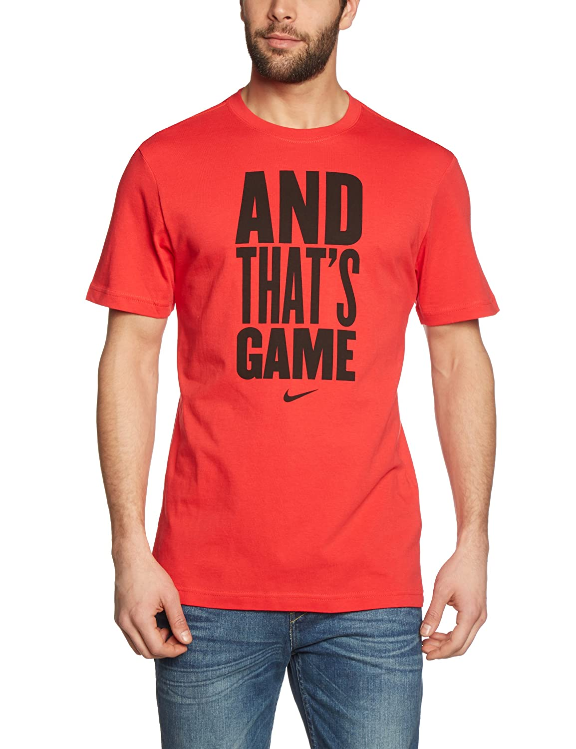 NIKE Herren kurzärmliges Shirt and That's Game Tee