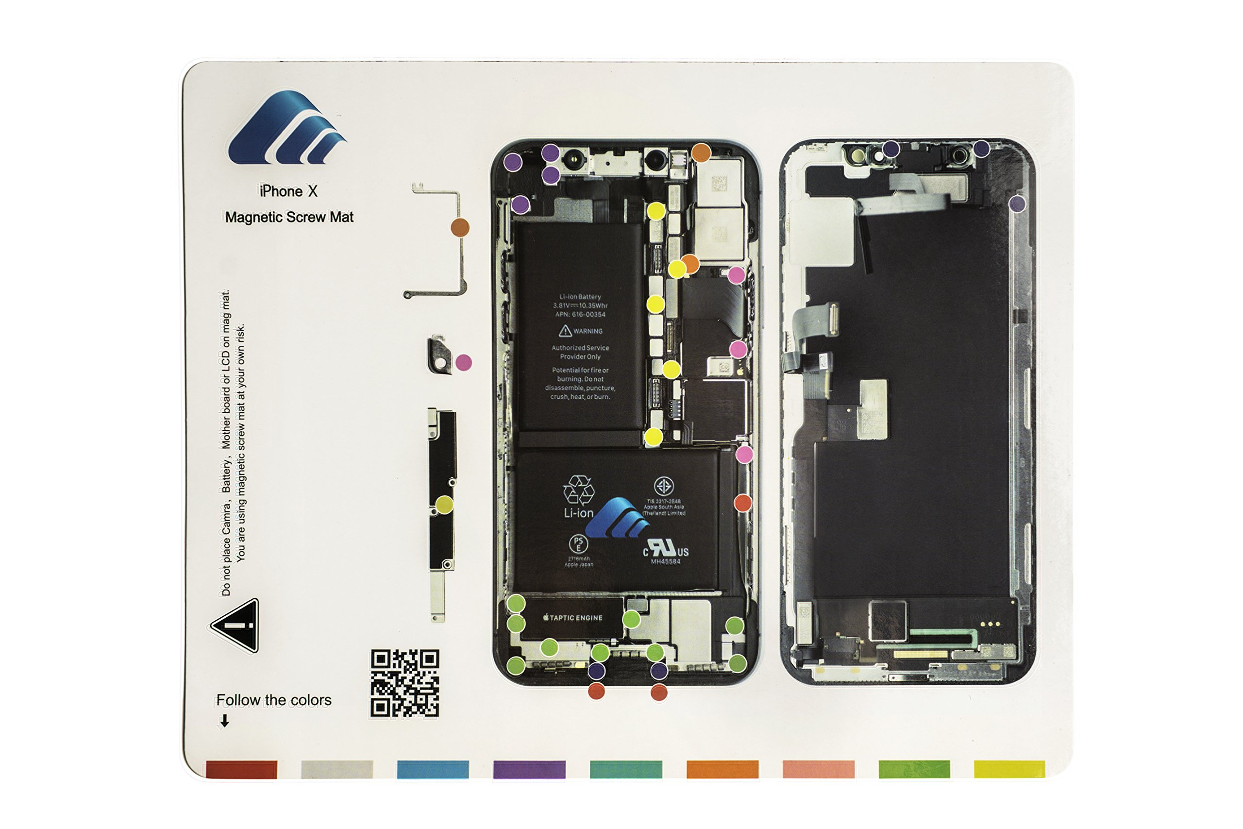 X-Sea Design Magnetic Project Mat Repair Guide Pad Screw Keeper Chart Map Professional Guide Pad Repair Tools (for iPhone X)